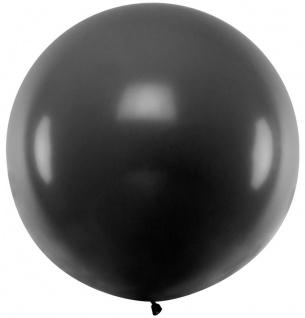 XXL Luftballon Flying Giant in Schwarz 1m