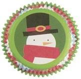 75 Muffin Förmchen Schneemann