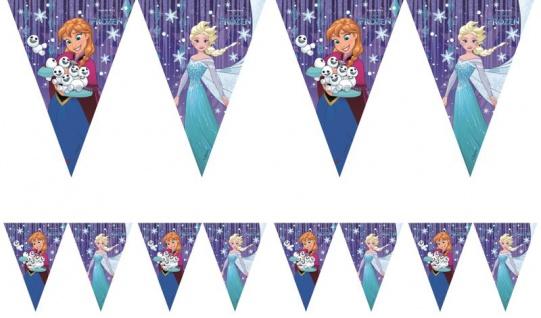 Eiskönigin Wimpel Girlande mit dem Motiv Schneeflocken