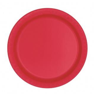 20 kleine Papp Teller Rot