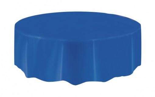Runde Plastik Tischdecke Königs Blau