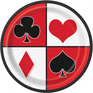 8 kleine Teller Las Vegas Casino Poker Party