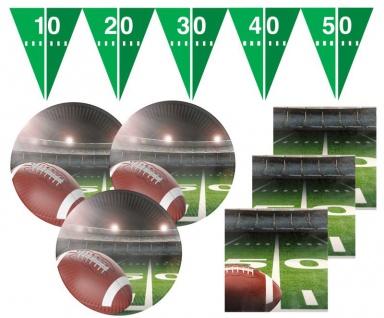 33 Teile American Football Superbowl Party Deko Set für 16 Personen