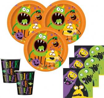 48 Teile Halloween Deko Set kleine Monster 16 Personen