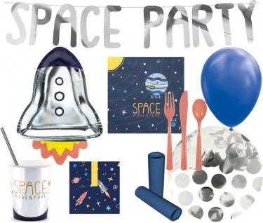XL 79 Teile kleiner Astronaut Geburtstags Party Deko Set für 6 Kinder