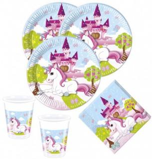 52 Teile kleines Einhorn Party Deko Set für 16 Kinder