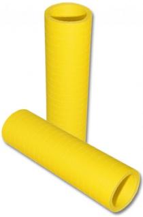 Papier Luftschlangen Gelb - 1 Rolle a 20 Wurf flammensicher
