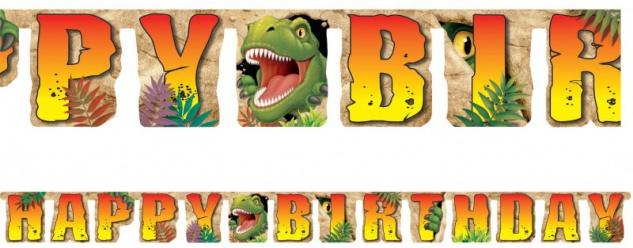 Dinosaurier Geburtstags Girlande