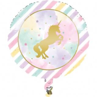 Folienballon goldenes Einhorn