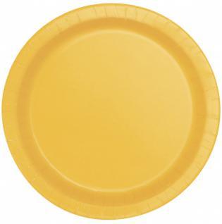 8 Papp Teller Sonnenblumen Gelb