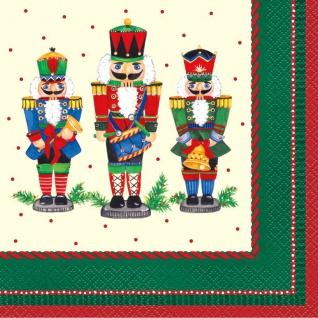 16 weihnachtliche Servietten Nussknacker
