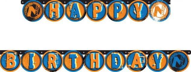 Geburtstags Girlande Nerf Blaster