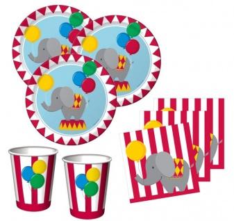 48 Teile Geburtstag Zirkus Party Set 16 Personen