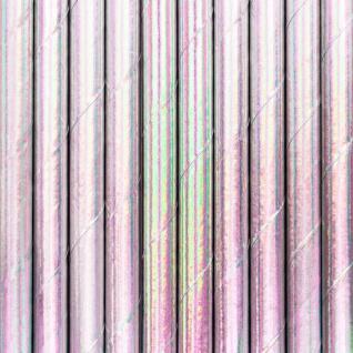 10 Papier Trinkhalme Irisierend