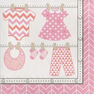 16 Servietten Baby Party Pastell Rosa