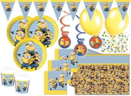 55 Teile Minions Party Deko Set für 8 Kinder