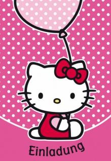 5 Hello Kitty Einladungskarten