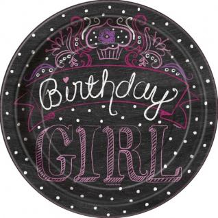 8 kleine Teller Happy Birthday Sweets