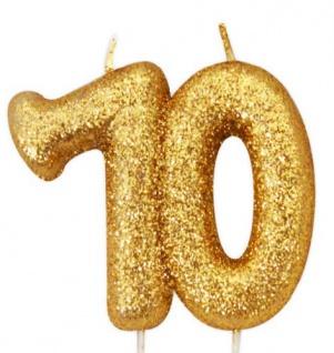 Kuchen Kerze 70. Geburtstag Gold Glitzer