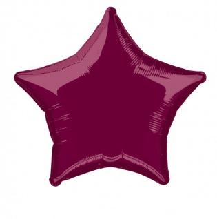 Folienballon Stern Dunkelrot