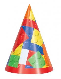 8 Party Hütchen Bausteine Party