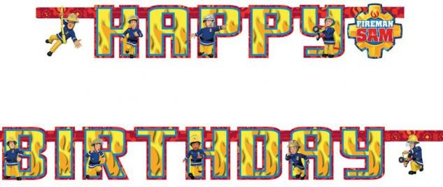 Geburtstags Girlande Feuerwehrmann Sam