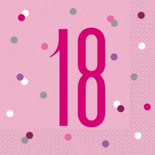 32 Teile 18. Geburtstag Pink Dots Party Set 8 Personen - Vorschau 4