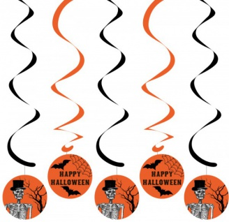 5 hängende Girlanden Halloween Kulisse