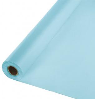30 Meter Rolle Plastik Tischdecke Pastell Blau