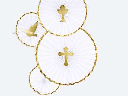 3 goldene Torten oder Blumen Stecker Kreuz Taube Kelch DIY - Vorschau 5
