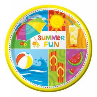 8 kleine Sommer Party Teller