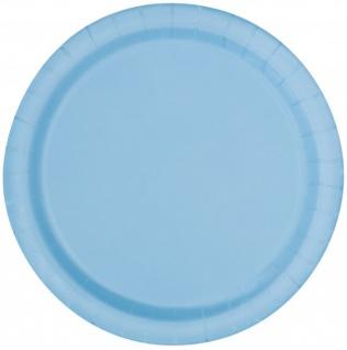 8 Papp Teller Hellblau - Vorschau 1