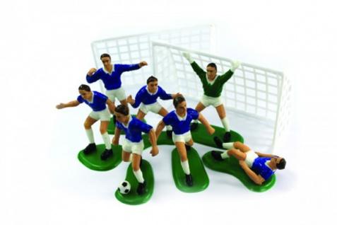 9 Teile Fußballer Tortendeko Set blau