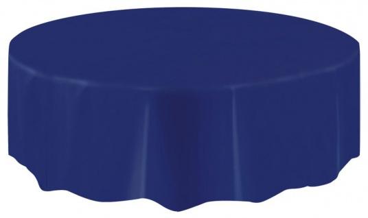 Runde Plastik Tischdecke in Dunkelblau