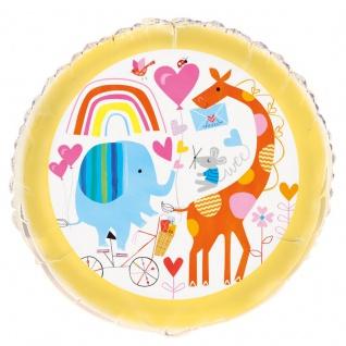 Folien Ballon Baby Zoo für die Babyparty
