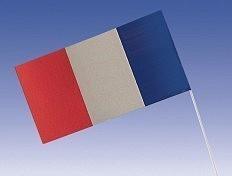 1 Papier Fähnchen Frankreich