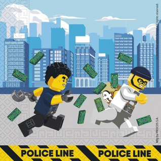 20 Servietten Lego City Polizei ECO Linie