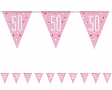 XL 36 Teile 50. Geburtstag Pink Dots Party Set 8 Personen - Vorschau 3