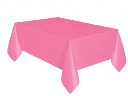 Plastik Tischdecke Helles Pink
