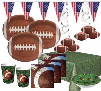 XXL 46 Teile American Football Superbowl Party Deko Set 8 Personen