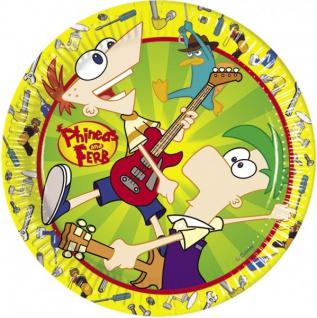 10 Phineas und Ferb Party Teller