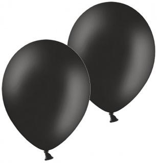10 Luftballons in Schwarz 28cm