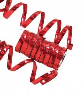 Glitzer Luftschlangen Rot