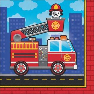 16 Servietten Feuerwehr Alarm