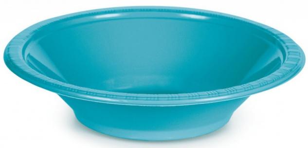 20 Plastik Schalen Bermuda Blau