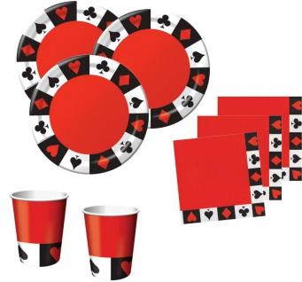 XXL 61 Teile Poker, Casino Motto Party Deko Set 8 Personen - Vorschau 2