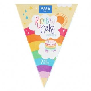 Regenbogen Kuchen Set 7 Farben als Paste