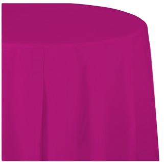 Runde Plastik Tischdecke in Neon Pink - Vorschau 1