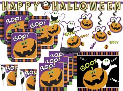 XXL 43 Teile Halloween Deko Set Kürbis Boo - Gespenster 8 Personen
