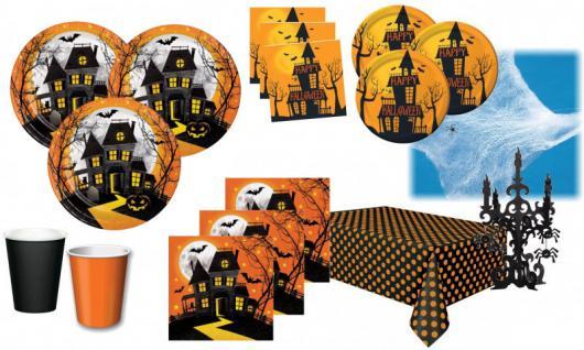 XXL 75 Teile Halloween Deko Set Halloween Spukschloß Geister 16 Personen